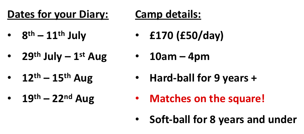 Summer camps 2019 dates